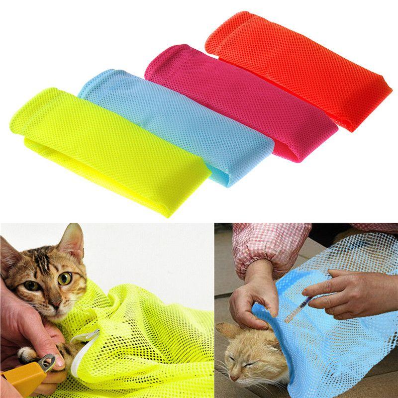 Colori della caramella Multifunzionale Governare del gatto sacchetto della maglia sacchetto cat borse sacchetti da bagno montato gatto pulito forniture per animali da compagnia in vendita