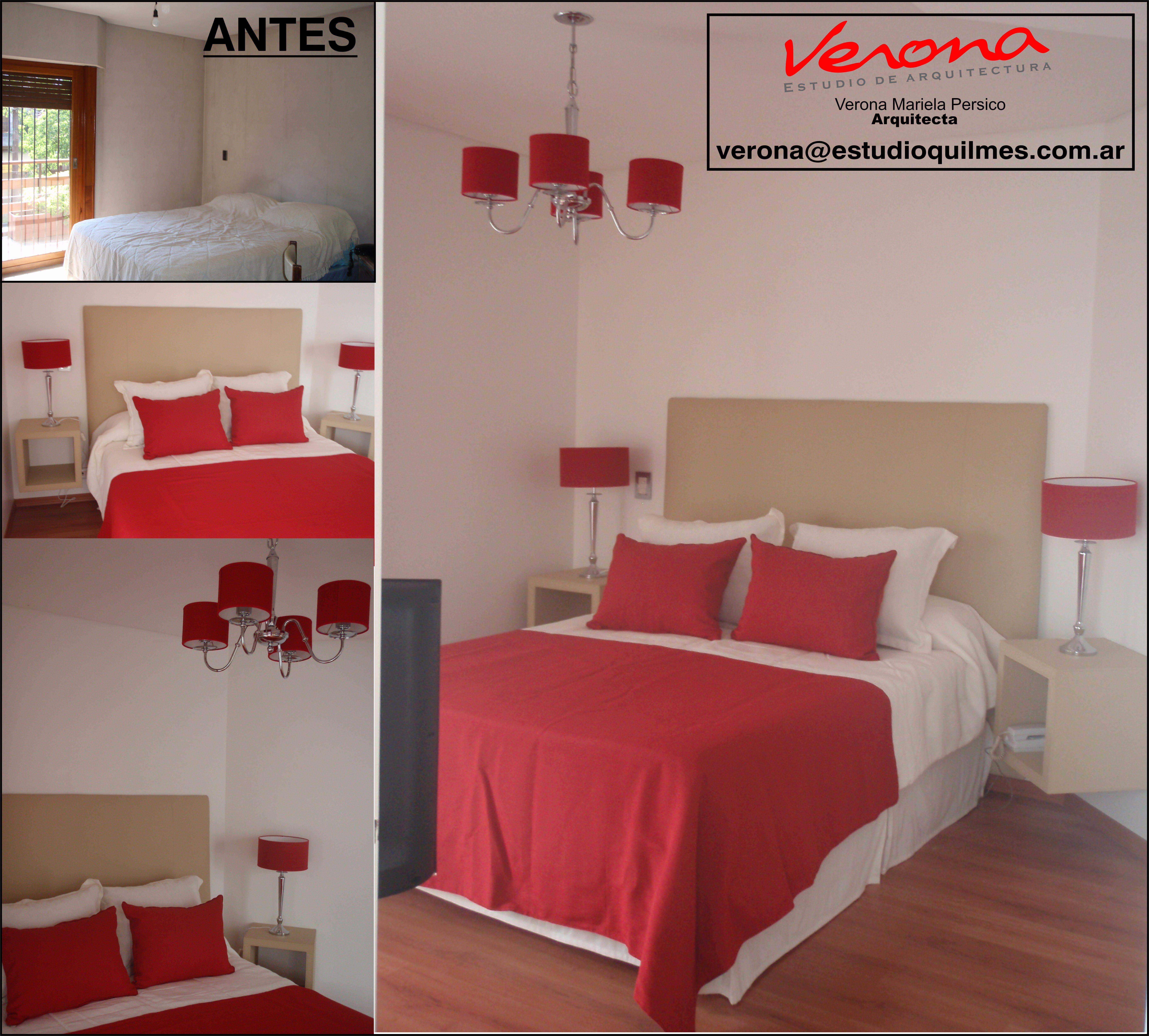 reforma de un dormitorio matrimonial la premisa era utilizar el color blanco en paredes y