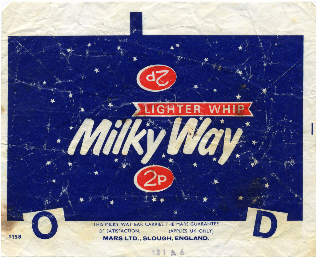 Milky Way Wrapper From The 70 S Sweet Wrappers Old Sweets Retro Sweets