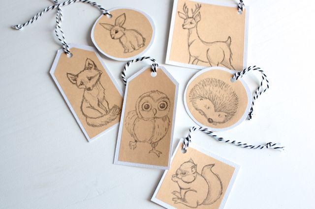 Free download woodland animal gift tags Pinned by www.myowlbarn.com