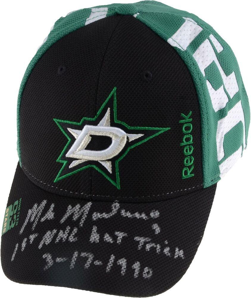 06db5a9e98675 Autographed Mike Modano Dallas Stars Hat Fanatics Authentic COA Item 9369402