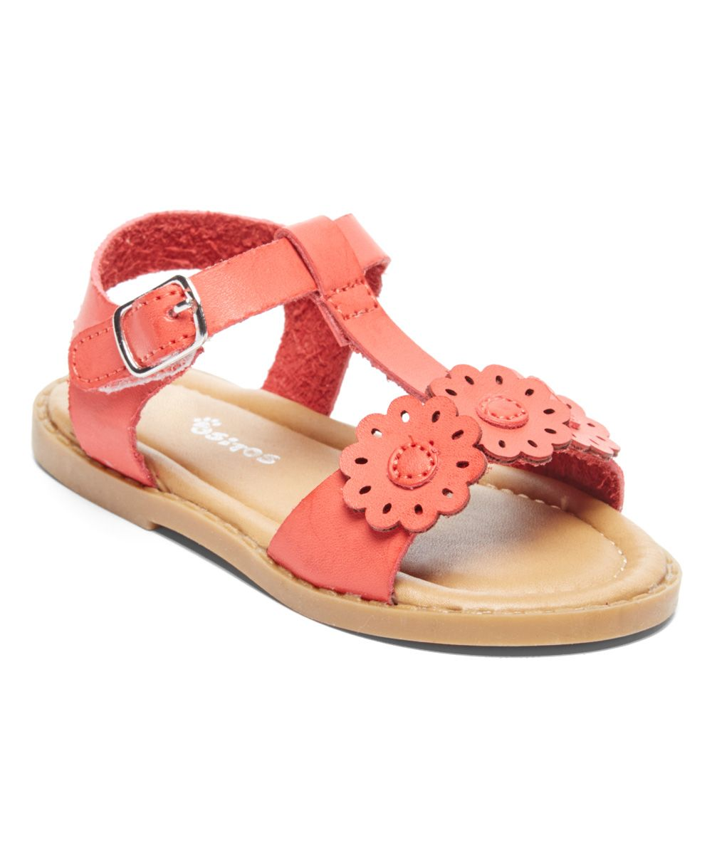 a9a73b30927c Coral Flower T-Strap Sandal