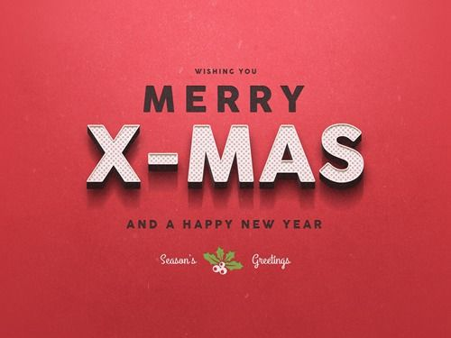 10种圣诞节新年特效立体文字PSD   - PS饭团网