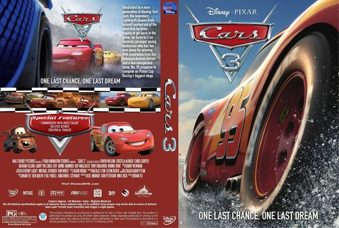 cars 3 2017 dvd custom cover dvd pinterest. Black Bedroom Furniture Sets. Home Design Ideas