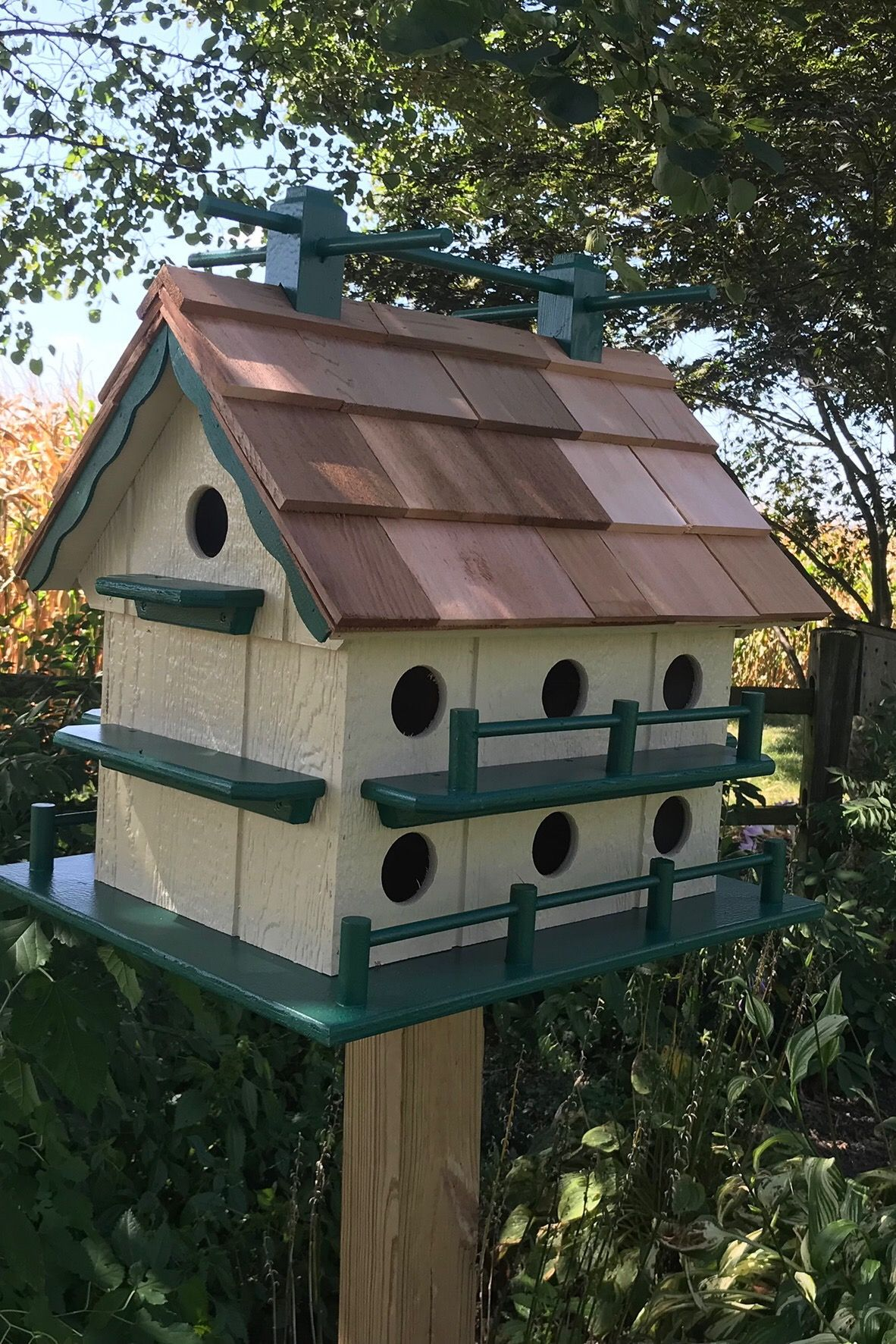 Martin House Birdhouse Removable Roof For Easy Clean Out Etsy In 2020 Bird Houses Bird Houses Diy Large Bird Houses
