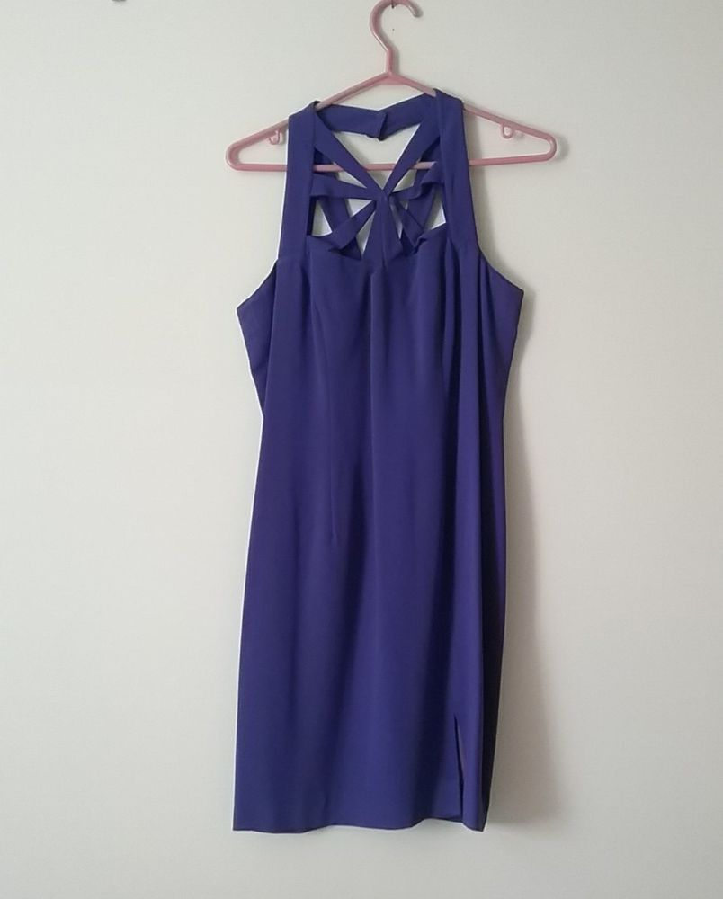 Cocktail dress evening dress vintage purple jackie k size