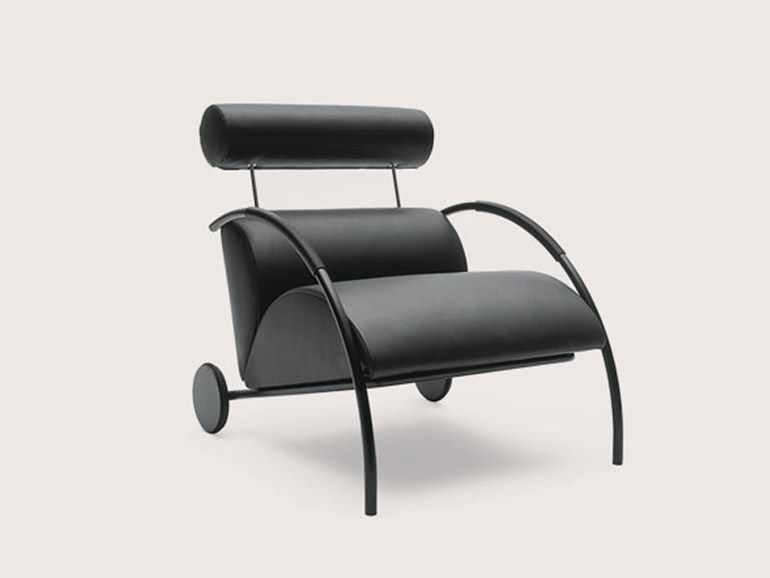 Armchair with casters ZYKLUS by COR Sitzmöbel Helmut Lübke design Peter Maly