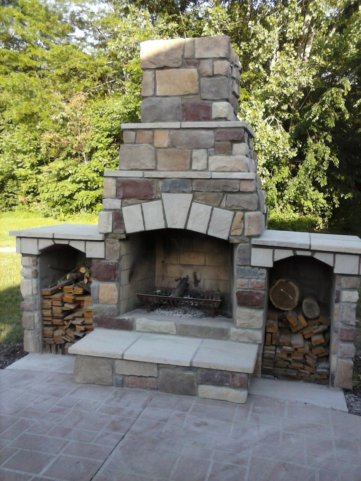 outdoor fireplace fire pits fireplaces by king cuts pinterest