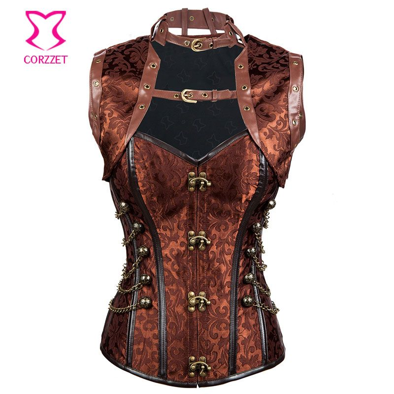 c62184970 Sexy Corsets and Bustiers Burlesque Costume Gothic Corpetes E Espartilhos  Plus Size Corset Jacket Corselet Steampunk Clothing   Price   US  26.89    Up To ...