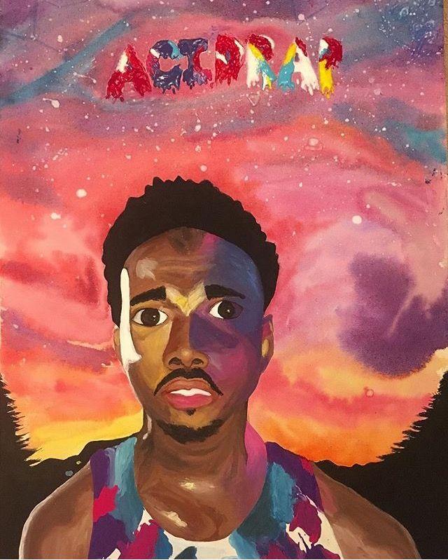 Chance The Rapper Acid Rap Painting Artbysummerjoy Chance The