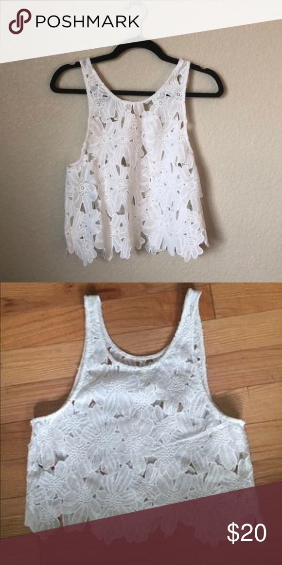 LF crochet lace tank top Super cute for the summer paired w a bikini or bandeau/bralette underneath! LF Tops Tank Tops #crochettanktops