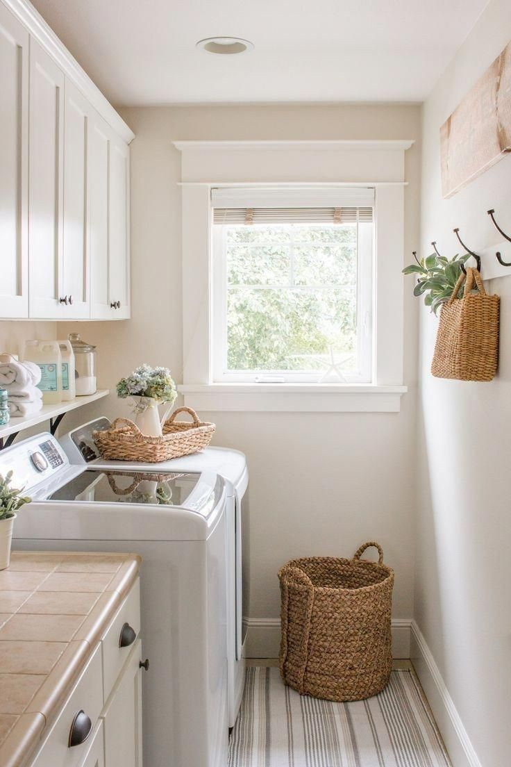 30 Farmhouse Laundry Rooms With Smart Organized Setup #laundryrooms