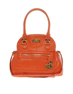 Bag With Lock Detail By River Island In Orange Also Black