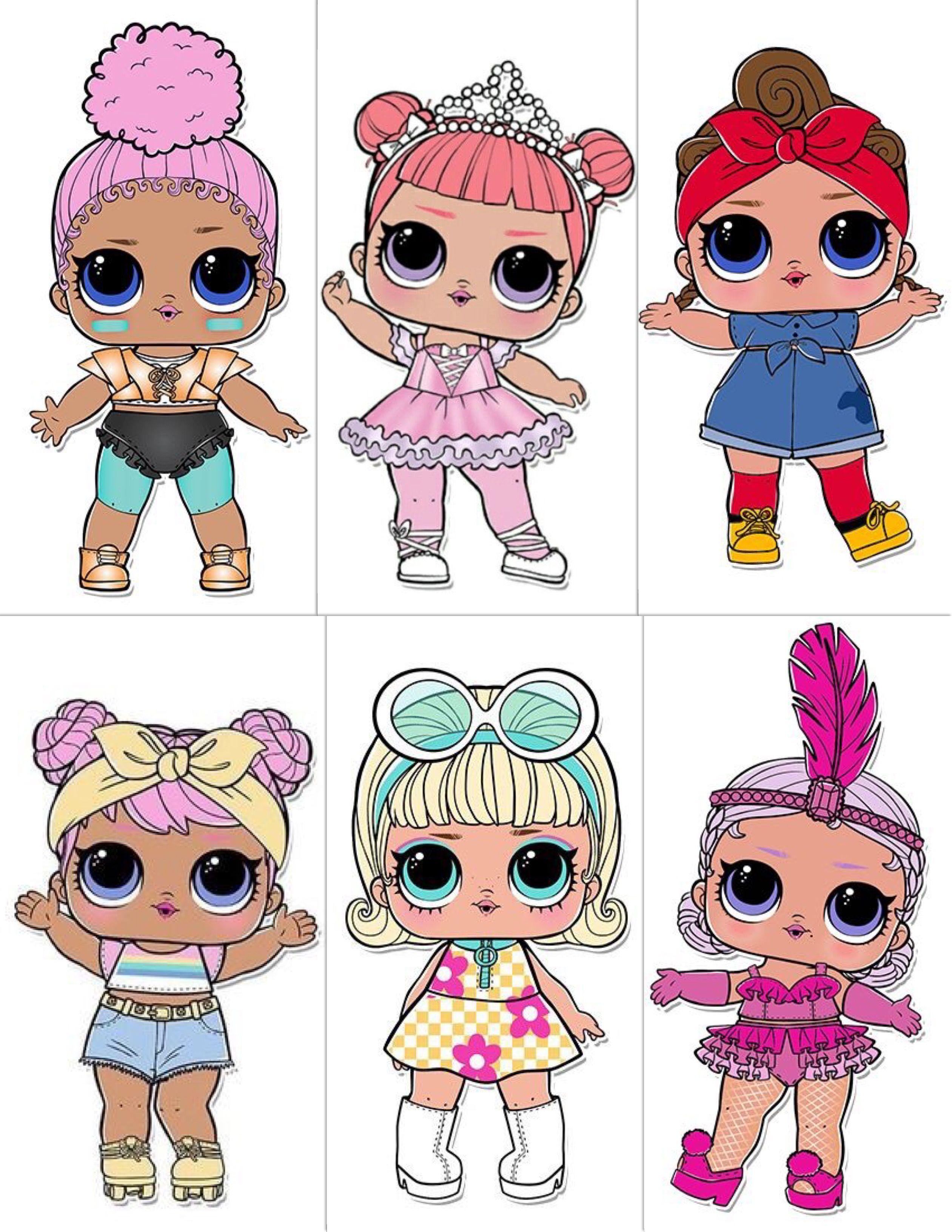 Куклы лол с надписями как их зовут, открытка днем рождения