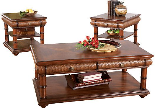shop for a cindy crawford home key west 3 pc table set at rooms to go - Cindy Crawford Furniture