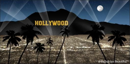 Backdrops: Hollywood Sign 8 Blue