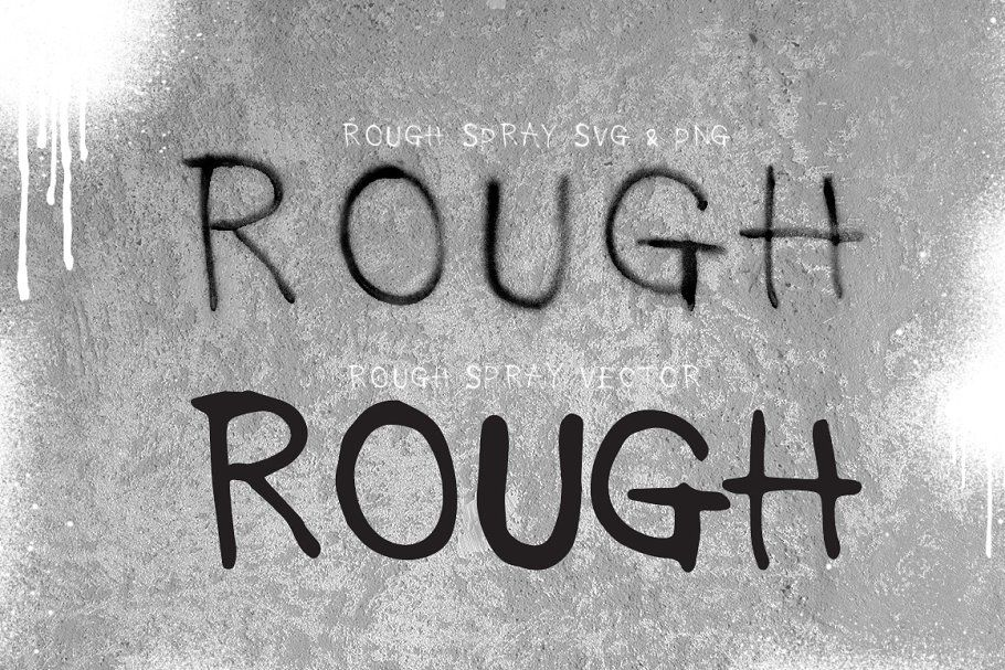 Rough Spray SVG typeface in 2020 Spray paint font