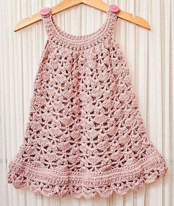 Crochet dress PATTERN - Chantilly Lace Sundress (sizes up to 10 ...