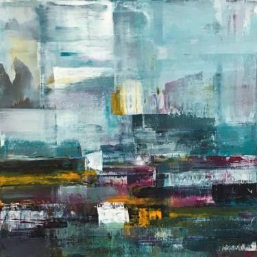 "Saatchi Art Artist Claudia Grutke; Painting, ""winter morning 01"" #art"