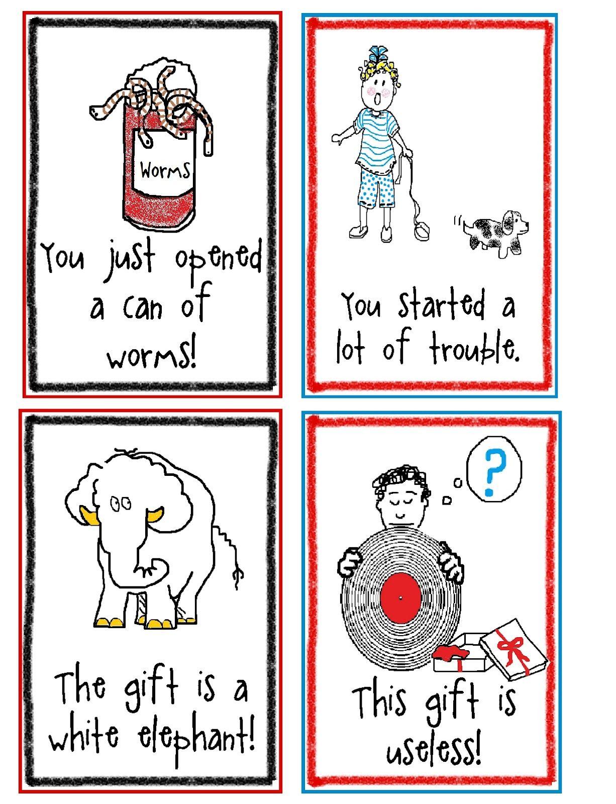 Idiom Writing Activities