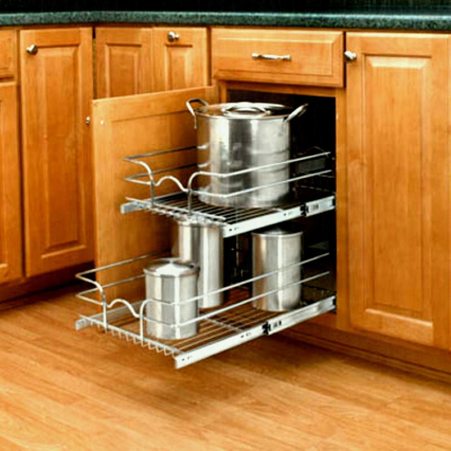 Diy Pull Out Shelves Cabinets Beds Sofas And With Images Kitchen Cabinet Pulls Cabinets Organization Rev A Shelf
