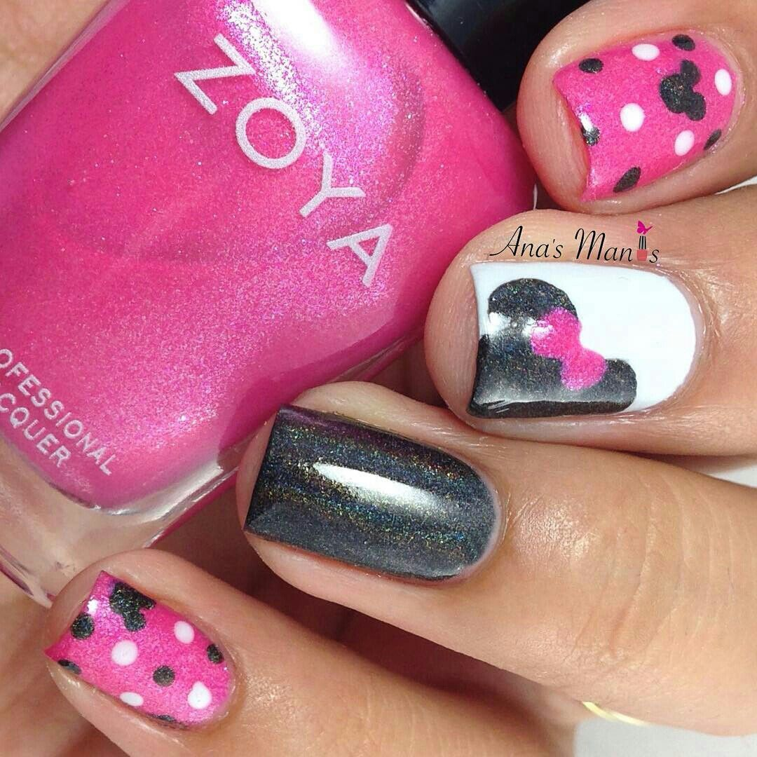 I these Pink Disney Nails My favourite | Nails! | Pinterest ...