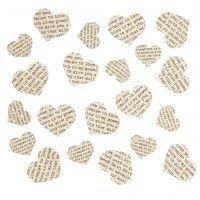 Vintage Heart Confetti Cutout
