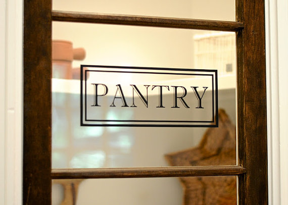 Pantry Vinyl Decal Pantry Door Decal Glass Door Decal Vinyl