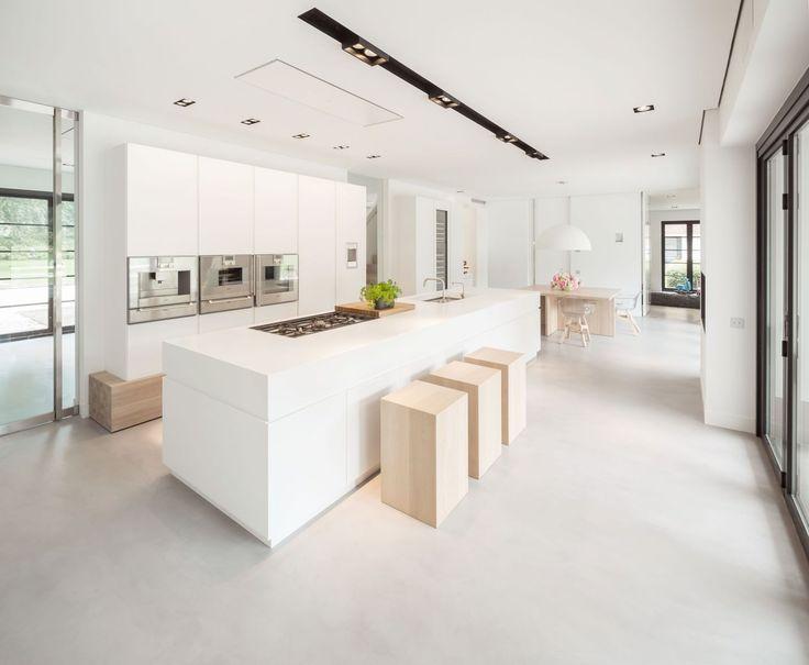 Afbeeldingsresultaat voor witte keuken gietvloer kuchnie