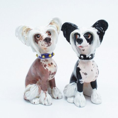 Porcelain Figurine of the Chinese Crested Dog