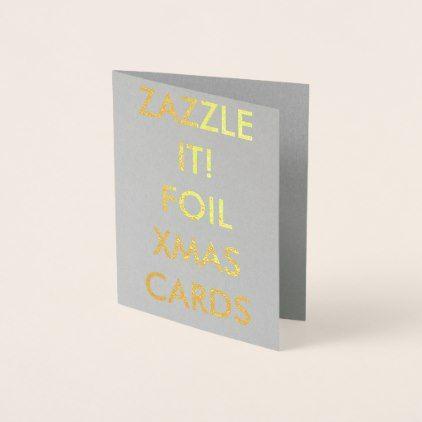 Custom Gold Foil Christmas Card Blank Template - christmas idea - blank card template