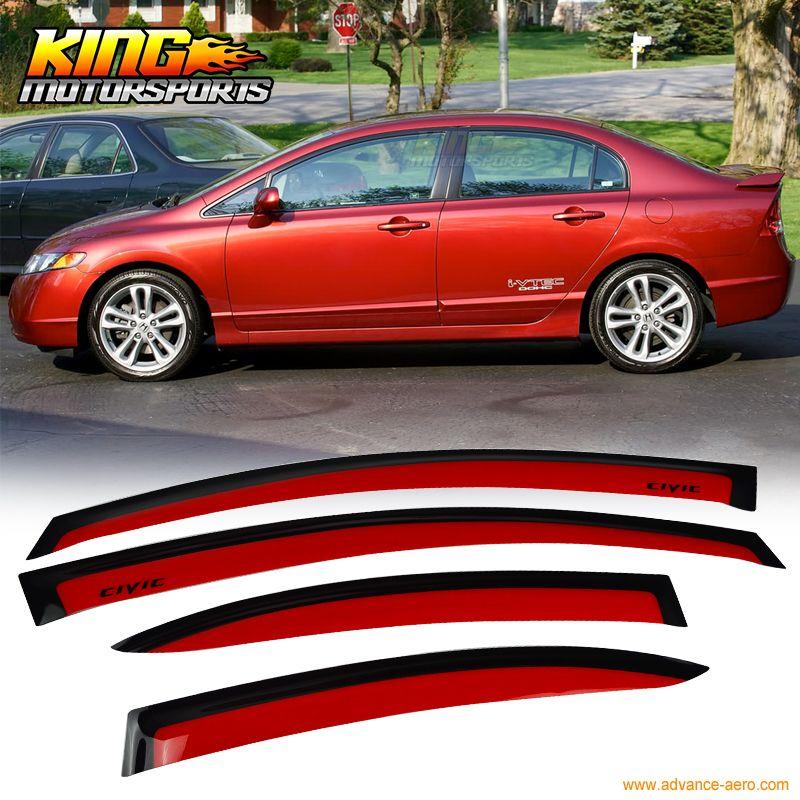 For 06-11 Honda Civic Acura CSX 4D Sedan JDM Window Sun