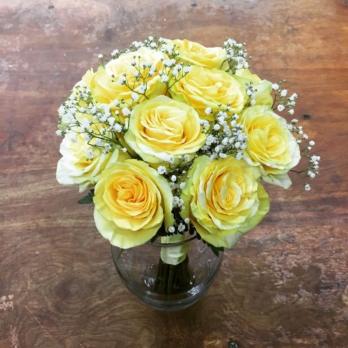 Yellow Wedding Flowers Ideas: Classic Yellow Rose Bridal Bouquet, Bride, Wedding Flowers
