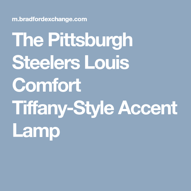 cd9dc9ae3 The Pittsburgh Steelers Louis Comfort Tiffany-Style Accent Lamp