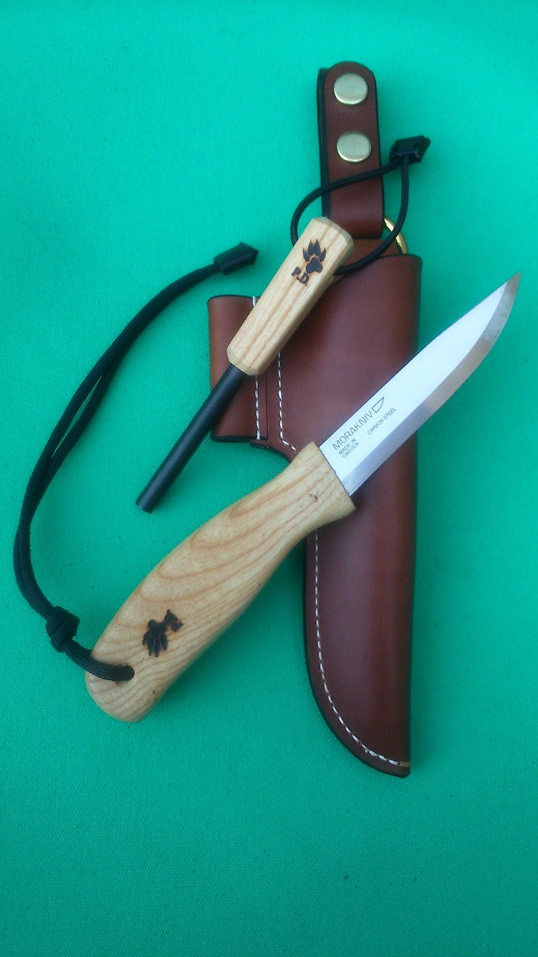 Another custom Mora knife combo - this time with Ash handles ...
