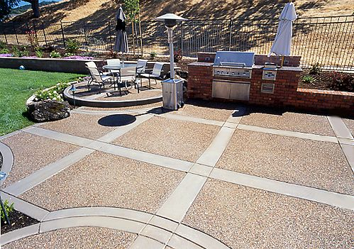 Exposed Aggregate With Sand Finish Borders · Exposed AggregateConcrete  PatiosLandscaping ...