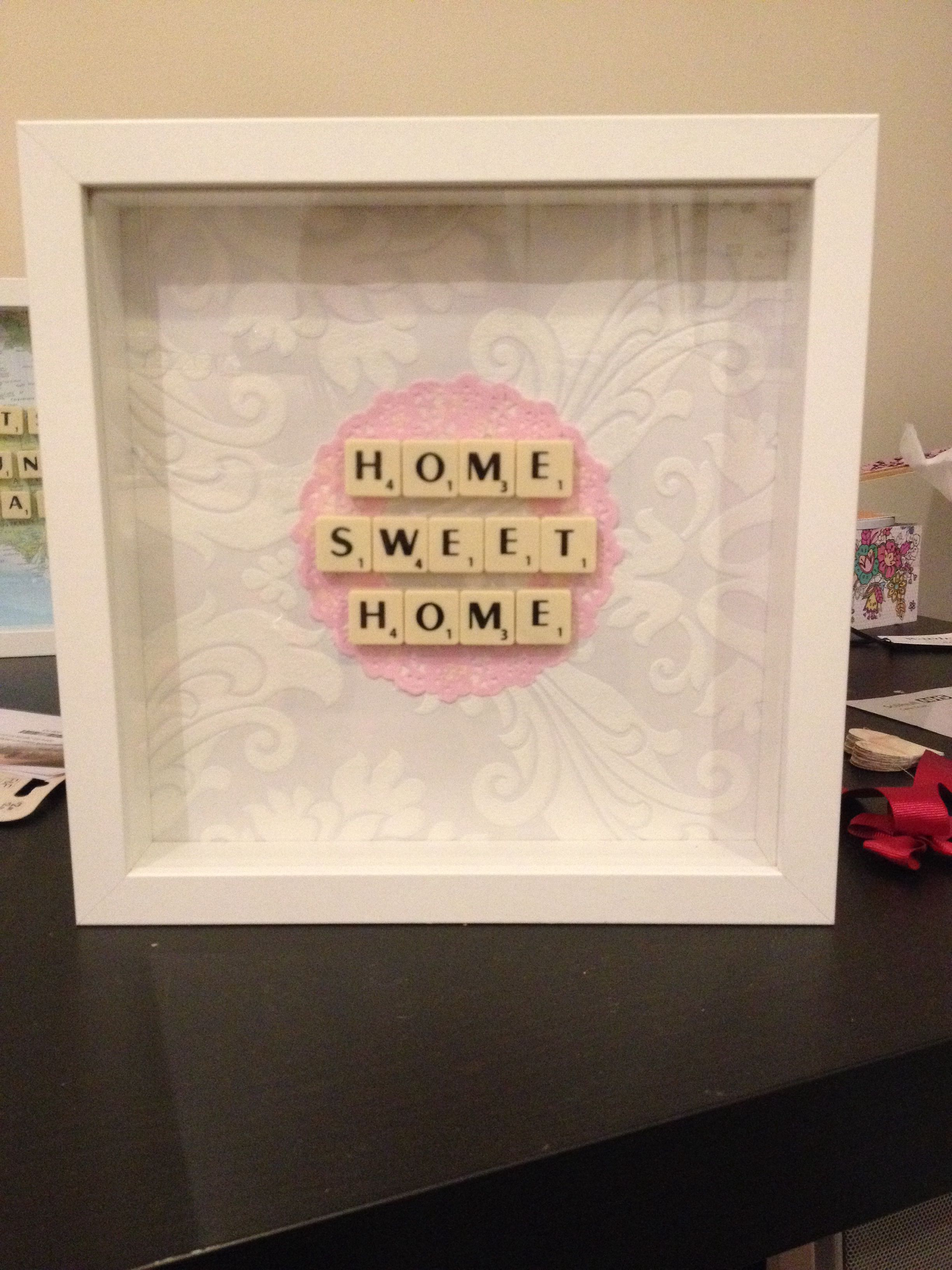 Home Sweet Home box frame   My craft creations   Pinterest   Home ...