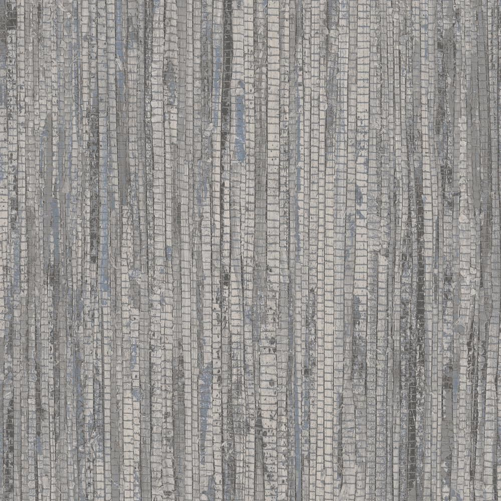 Patton Blue and Grey Rough Grass Wallpaper, Blue/ Grey