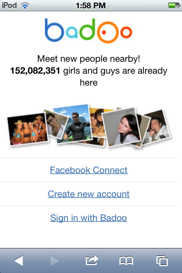 badoo login mobile
