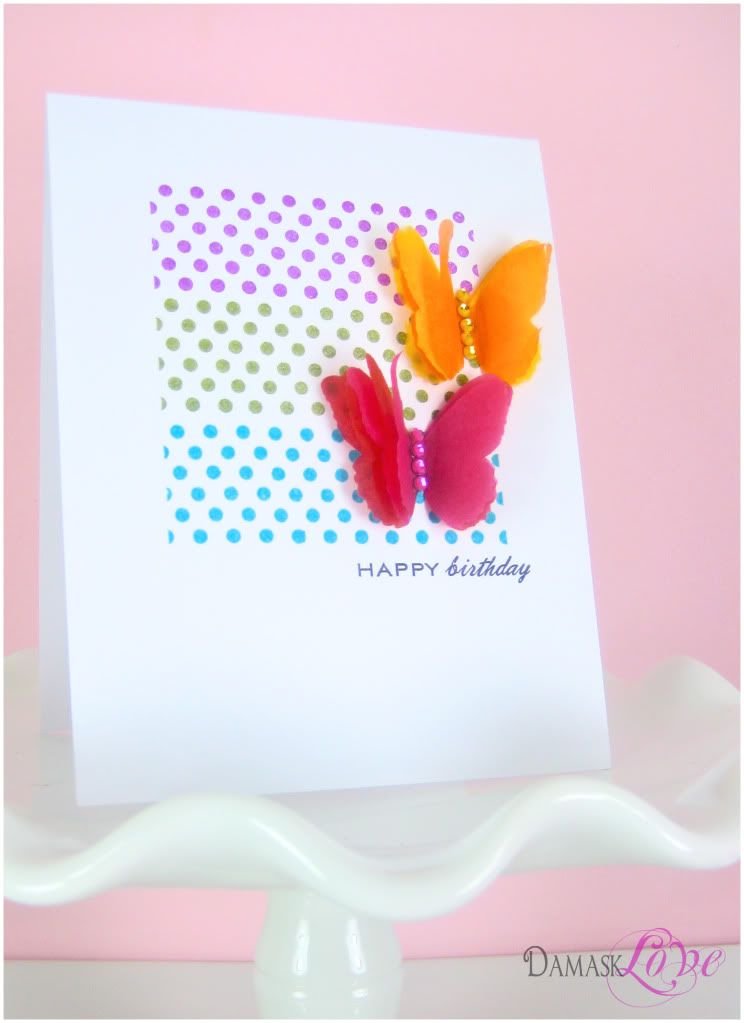 Moxie Fab Tissue Paper Magic Challenge Creative Cards Card