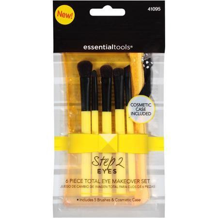Essential Tools Step 2 Eyes Total Eye Makeover Makeup Brush Set, 6 ...