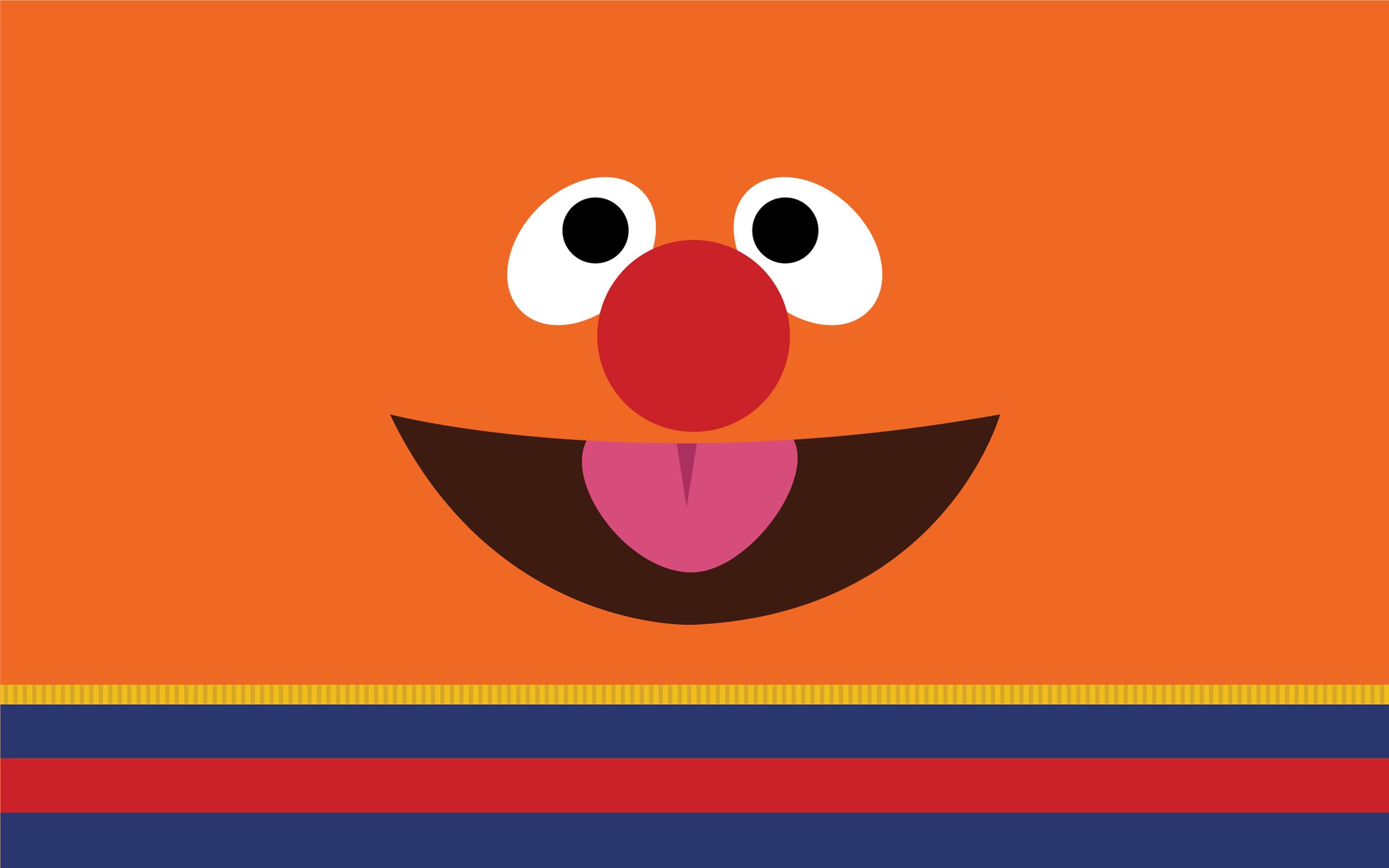 Childhood Sesame Street Wallpaper Illustration Design