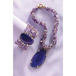 $19.99 amethyst necklace & bracelet!