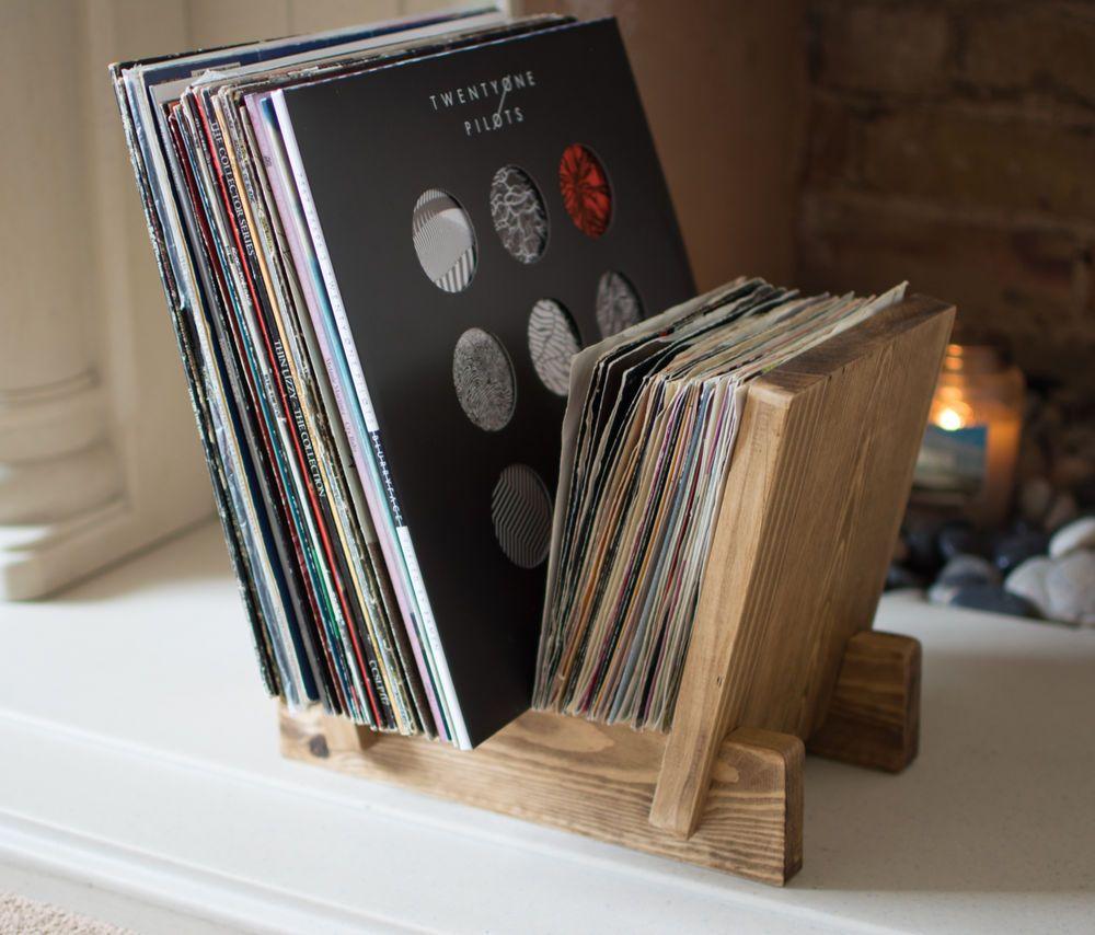 Vinyl Record Storage Lp 7 Inch Single Record Flip Display Rack