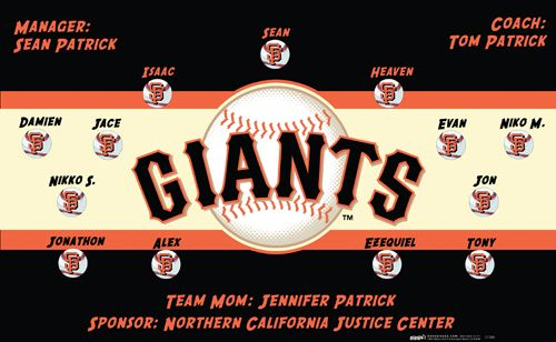 Giants digitally printed vinyl baseball and little league sports team banner. Made in the USA and shipped fast by Banners USA. http://www.bannersusa.com/art/templates_2/digital/banners/major-league-baseball-team-banners.php