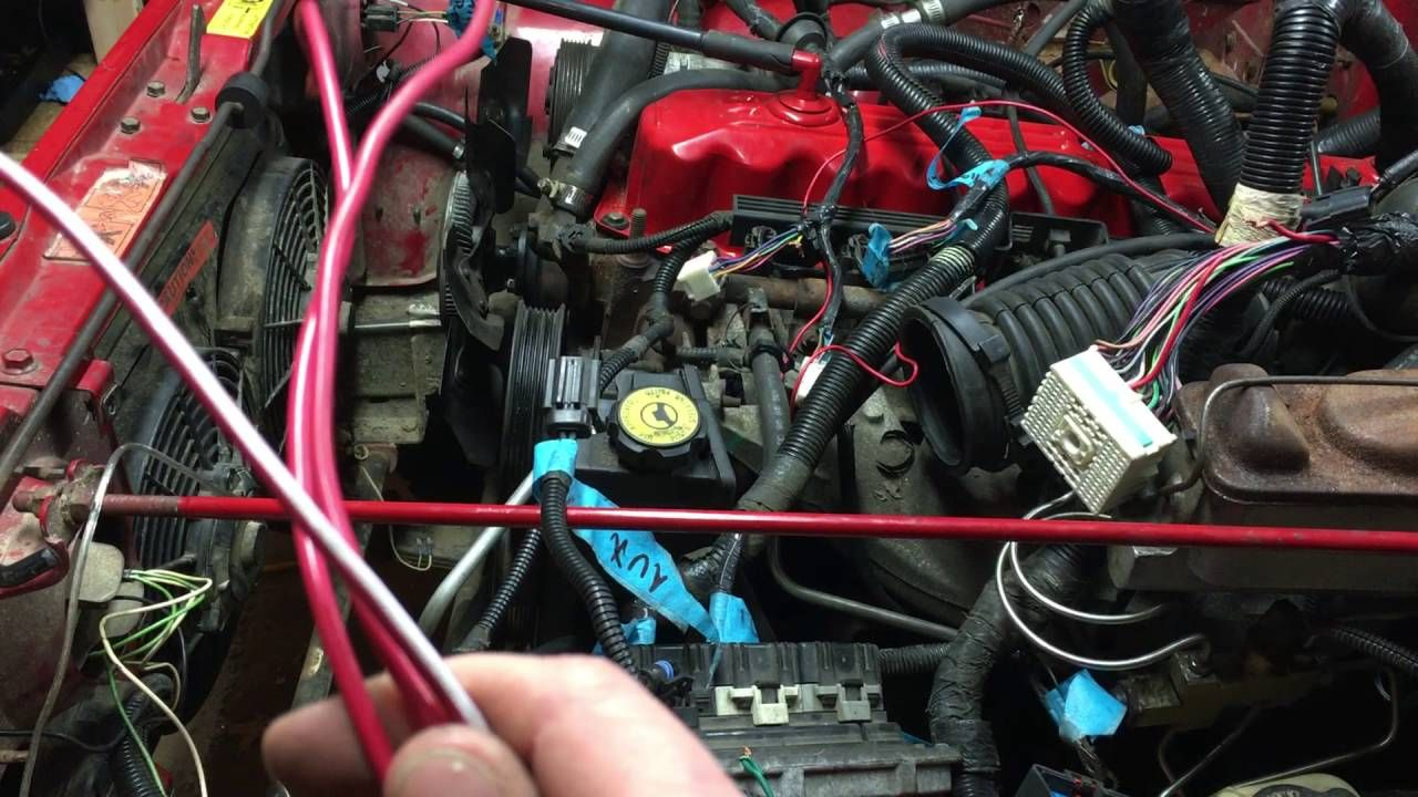 Jeep Yj 42 To 40 Engine Swap Wiring Part 2 Youtube Oiiiiio Parts