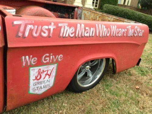 Buy Used 1964 Dodge D100 Ratrod Hotrod Patina Slammed Texaco