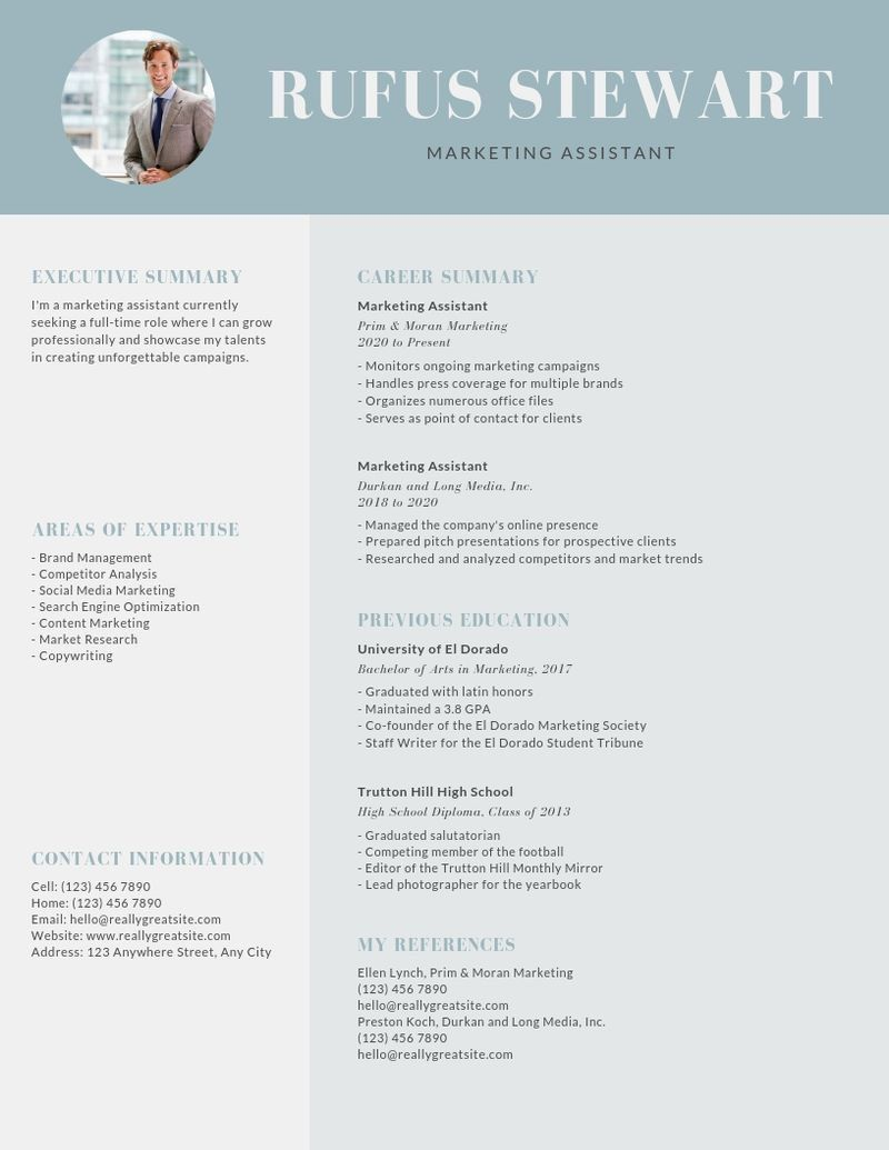 Heres What Your Resume Should Look Like For 2019 Learn Image Result For Resume Template Heres What Y With Images Printing Business Cards Graphic Design Software Resume