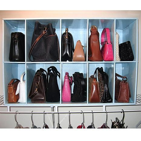 Shop Park A Purse Closet Organizer With 10 Cubbies 6275316 Read