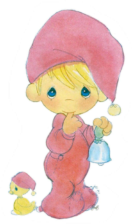 Precious Moments Ilustraciones Tarjeta Navidad | Precious Moments ...